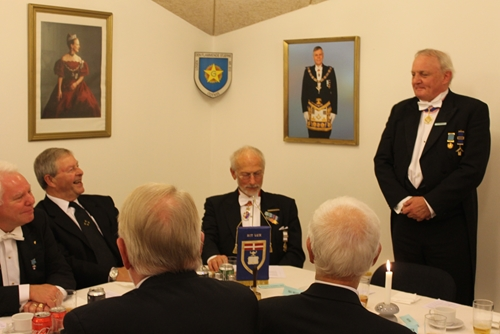 Discussion at the festive board