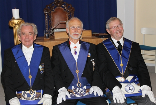 WBro John Acaster (right) with his hosts