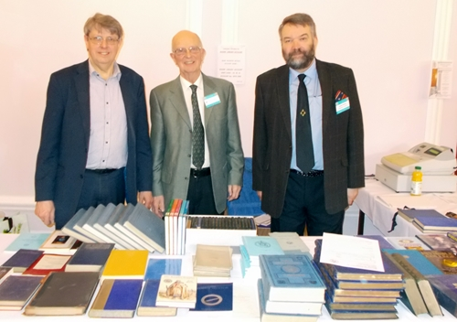 MAMR bookstall manned by (left to right) Roy, Tony and Allan