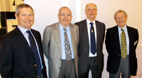 From left to right- Steven Reid, Chris Powell, Tony Baker and John Acaster