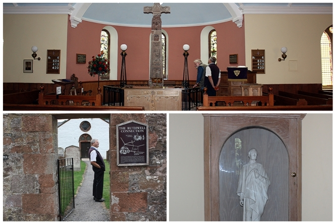 John Belton John Acaster with the Rothwell Cross (top) with views of the church entrance and inside the museum