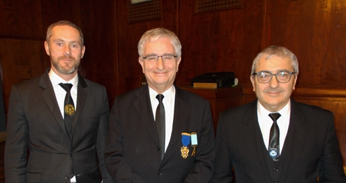 Daniel Paccoud (centre) with colleagues of GLNF